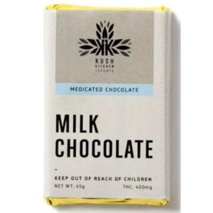kush kitchen milk chocolate bar 400 mg