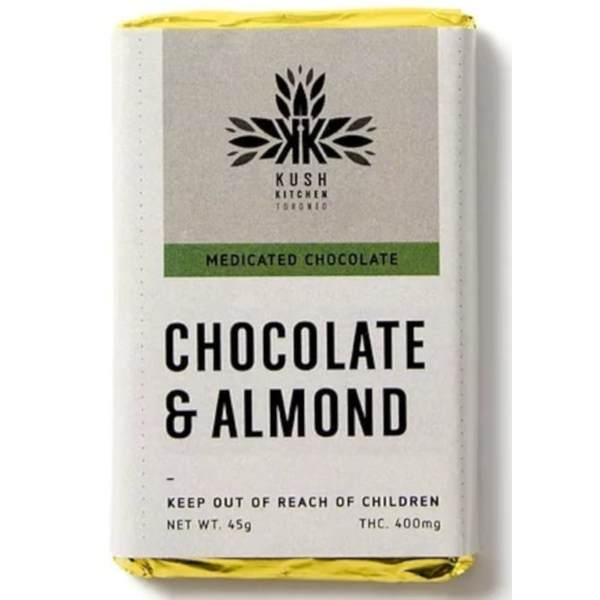 kush kitchens chocolate almond 400 mg