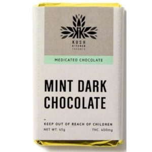 kush kitchens mint dark chocolate 400