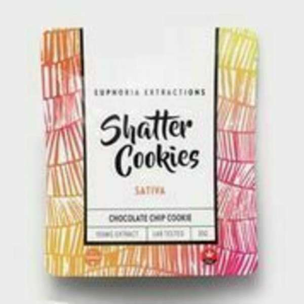 Shatter chocolate chip sativa cookies