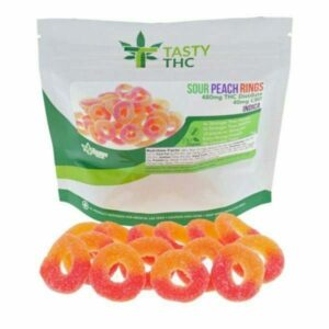 sour peach rings gummies