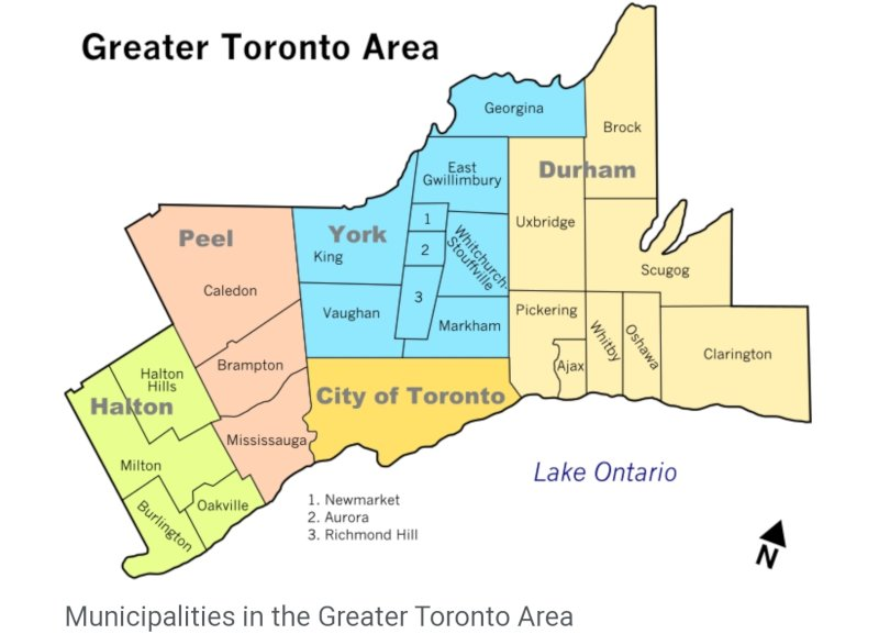 greater toronto area delivery area