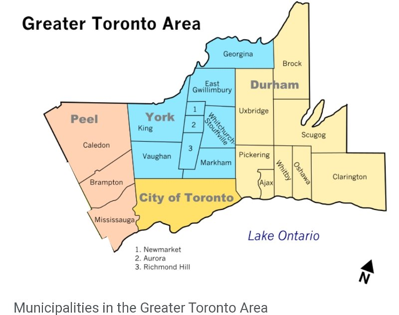 greater toronto area free delivery map